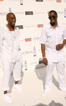 men wearing white suit